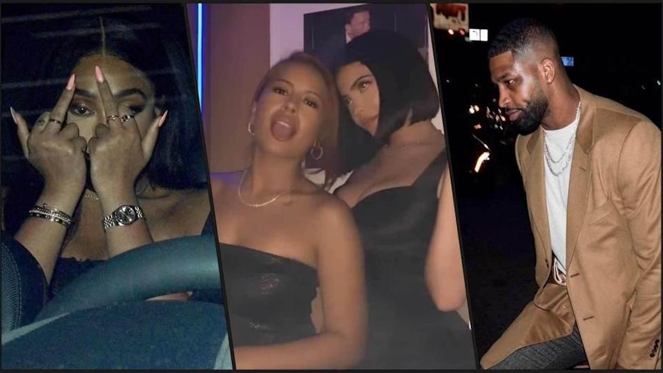 """<p>Kylie Jenner was in the same room as ex-BFF Jordyn Woods and her sister's ex Tristan Thompson last night. The awkward encounter went down at Bootsy Bellows Friday night in West Hollywood during a birthday party for their longtime friend, Stassi Karanikolaou. Kylie had backup by showing up with her sister, Kendall, and Jordyn Woods […]</p> <p>The post <a href=""""https://theblast.com/kylie-jenner-jordyn-woods-tristan-thompson-stassi-birthday/"""" rel=""""nofollow noopener"""" target=""""_blank"""" data-ylk=""""slk:Kylie Jenner, Jordyn Woods & Tristan Thompson Reunite at Birthday Party"""" class=""""link rapid-noclick-resp"""">Kylie Jenner, Jordyn Woods & Tristan Thompson Reunite at Birthday Party</a> appeared first on <a href=""""https://theblast.com"""" rel=""""nofollow noopener"""" target=""""_blank"""" data-ylk=""""slk:The Blast"""" class=""""link rapid-noclick-resp"""">The Blast</a>.</p>"""