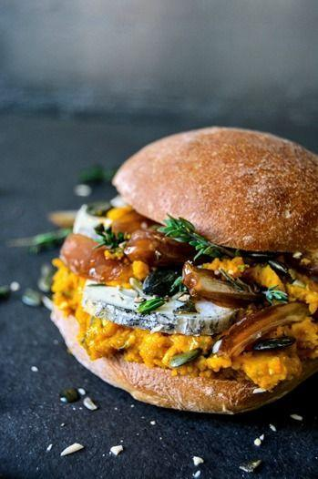"""<p>This gorgeous sandwich is made with chèvre cheese, dried dates, and a smooth pumpkin pesto seasoned with orange, salt, and thyme.</p><p><strong>Get the recipe at <a href=""""http://eatinmykitchen.meikepeters.com/pumpkin-pesto-date-and-ripe-chevre-sandwich/"""" rel=""""nofollow noopener"""" target=""""_blank"""" data-ylk=""""slk:Eat In My Kitchen"""" class=""""link rapid-noclick-resp"""">Eat In My Kitchen</a>.</strong></p>"""