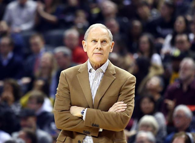 "<a class=""link rapid-noclick-resp"" href=""/nba/teams/cleveland/"" data-ylk=""slk:Cavaliers"">Cavaliers</a> head coach John Beilein is expected to keep his job after calling players ""thugs."" (Photo by Vaughn Ridley/Getty Images)"