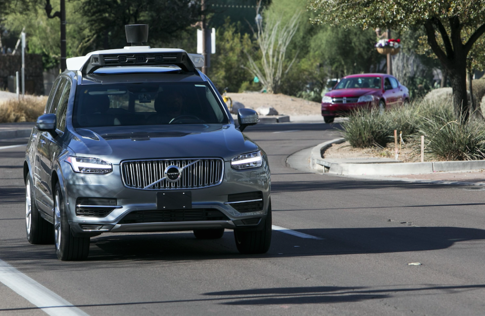 A self-driving Uber killed a pedestrian earlier this year (Picture: Rex)