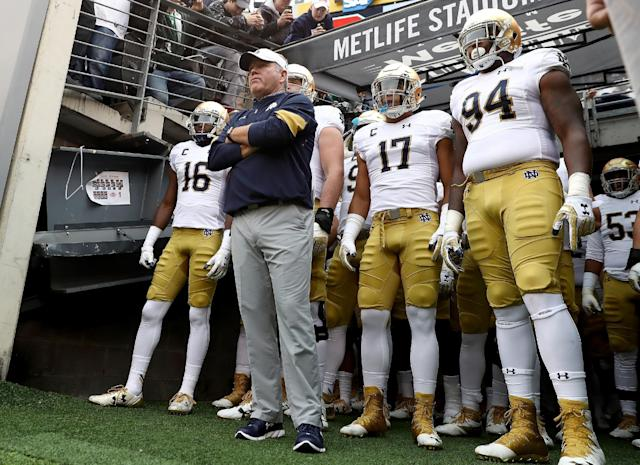 Brian Kelly and the Notre Dame Fighting Irish will be logging plenty of miles again this season. (Getty)
