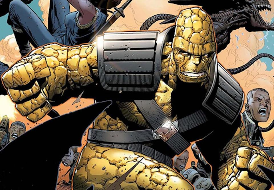 Korg as he appears in the <i>Planet Hulk</i> comic. (Image: Marvel Comics)