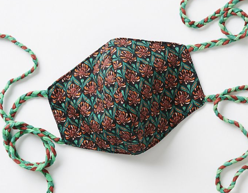 Anthropologie's face masks are cute, stylish and best of all, in stock.