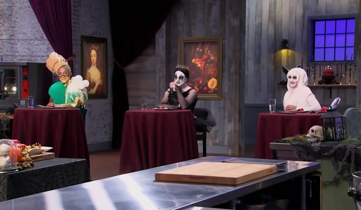 """On """"Halloween Baking Championship,"""" contestants are judged on the final product. <p class=""""copyright"""">Food Network</p>"""
