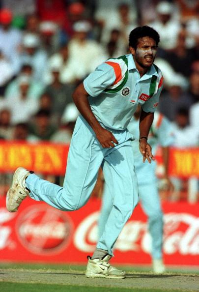 "Abey Kuruvilla, 6'6"": Perhaps the tallest player to represent India, Kuruvilla was not express pace despite his humungous size. He swung the ball somewhat and worked hard on his variations. He debuted for India on the 1996-97 West Indies tour and took 5 for 68 in the second innings of the Barbados Test. Kuruvilla played just five more Tests after that, and then fell out and was never considered to be part of the national scheme of things. He retired from First Class cricket after the 1999-2000 Ranji Trophy final against Hyderabad."
