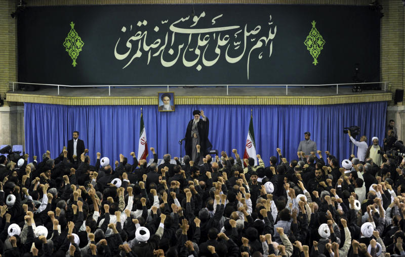 In this photo released by an official website of the Iranian supreme leader's office on Tuesday, Sept 17, 2013, Iran's Supreme Leader Ayatollah Ali Khamenei speaks at a meeting of Revolutionary Guard commanders. There's no mistaking the desire of Iran's new president and his allies to open greater contacts with Washington over nuclear talks and possibly other regional crises such as Syria. The only messages that really matter, though, come from the ultimate decision-maker in Tehran: Khamenei. Now, it appears Khamenei is giving President Hasan Rouhani critical room, for the moment at least, to seek potentially ground breaking overtures with Washington. (AP Photo/Office of the Supreme Leader)