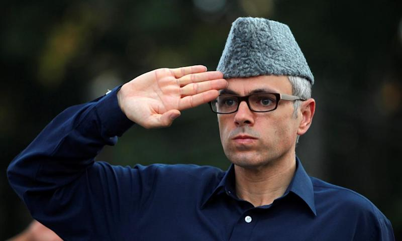 Kashmir's chief minister, Omar Abdullah, during a visit to the Martyrs' Graves in Srinagar in 2014.