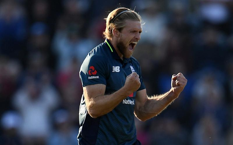 David Willey takes two for 13 in his last two overs to swing the match back England's way - Getty Images Europe