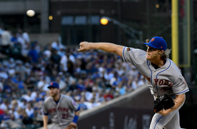 Noah Syndergaard is not happy with how he's performed in recent starts. (AP Photo)