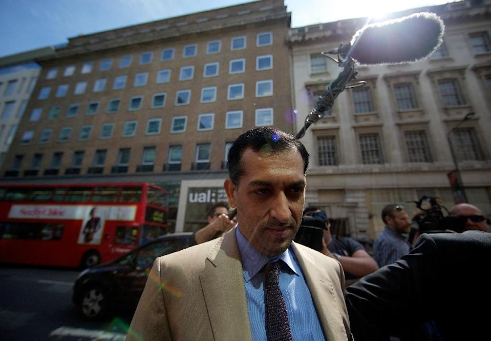 Godolphin trainer Mahmood al-Zarooni, pictured in London, in 2013 (AFP Photo/ANDREW COWIE)