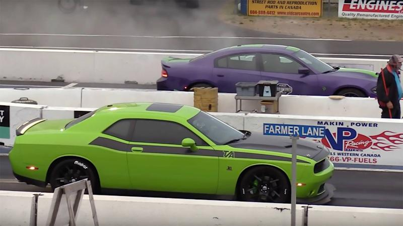 Dodge Latest Models >> Watch 13 Minutes Of Dodge S Latest Hardcore Models Drag Race
