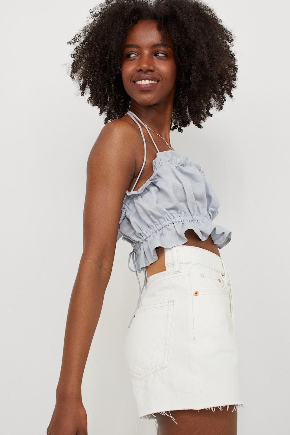 <p>Style this <span>Camisole Crop Top</span> ($18) with your favorite denim cutoffs or slip skirt.</p>