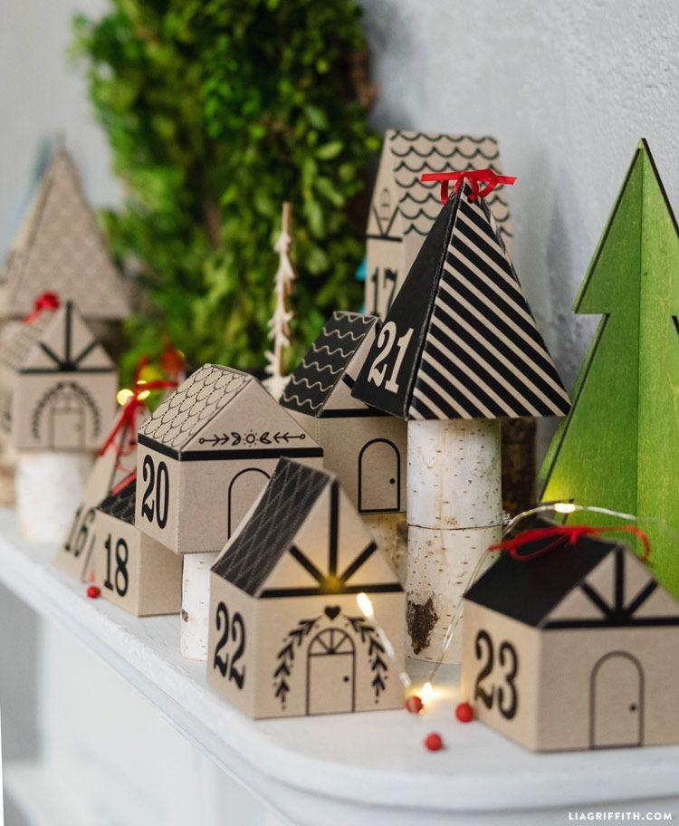 "<p>Turn your advent calendar into a village. Bonus: It can double as mantel decor. </p><p>Get the tutorial at <a href=""https://liagriffith.com/3d-paper-advent-calendar/"" rel=""nofollow noopener"" target=""_blank"" data-ylk=""slk:Lia Griffith"" class=""link rapid-noclick-resp"">Lia Griffith</a>.</p>"