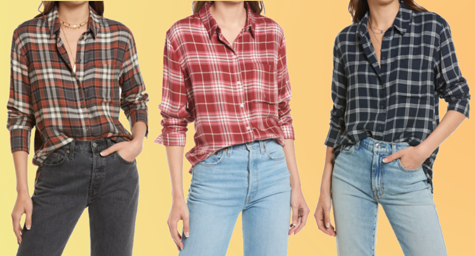 Nordstrom shoppers swear by this button-up for fall.