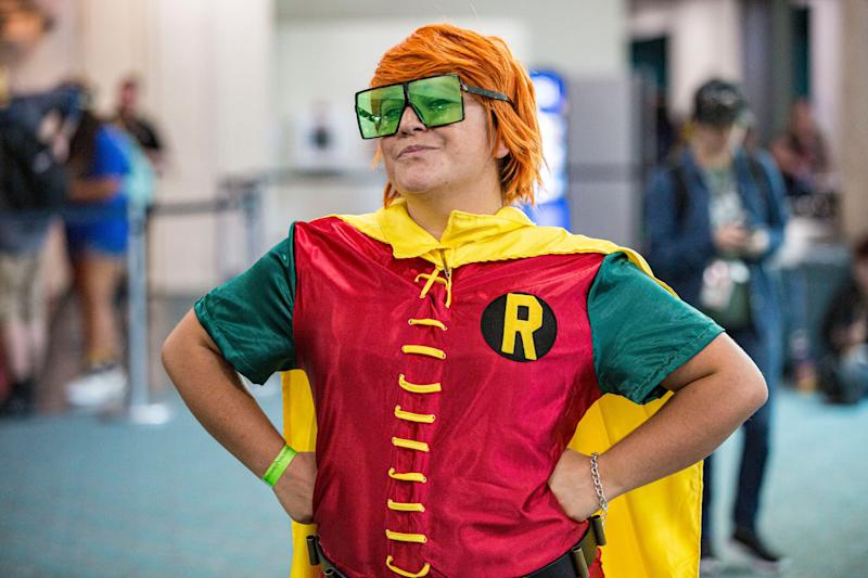 Arielle Barels dressed as Robin.