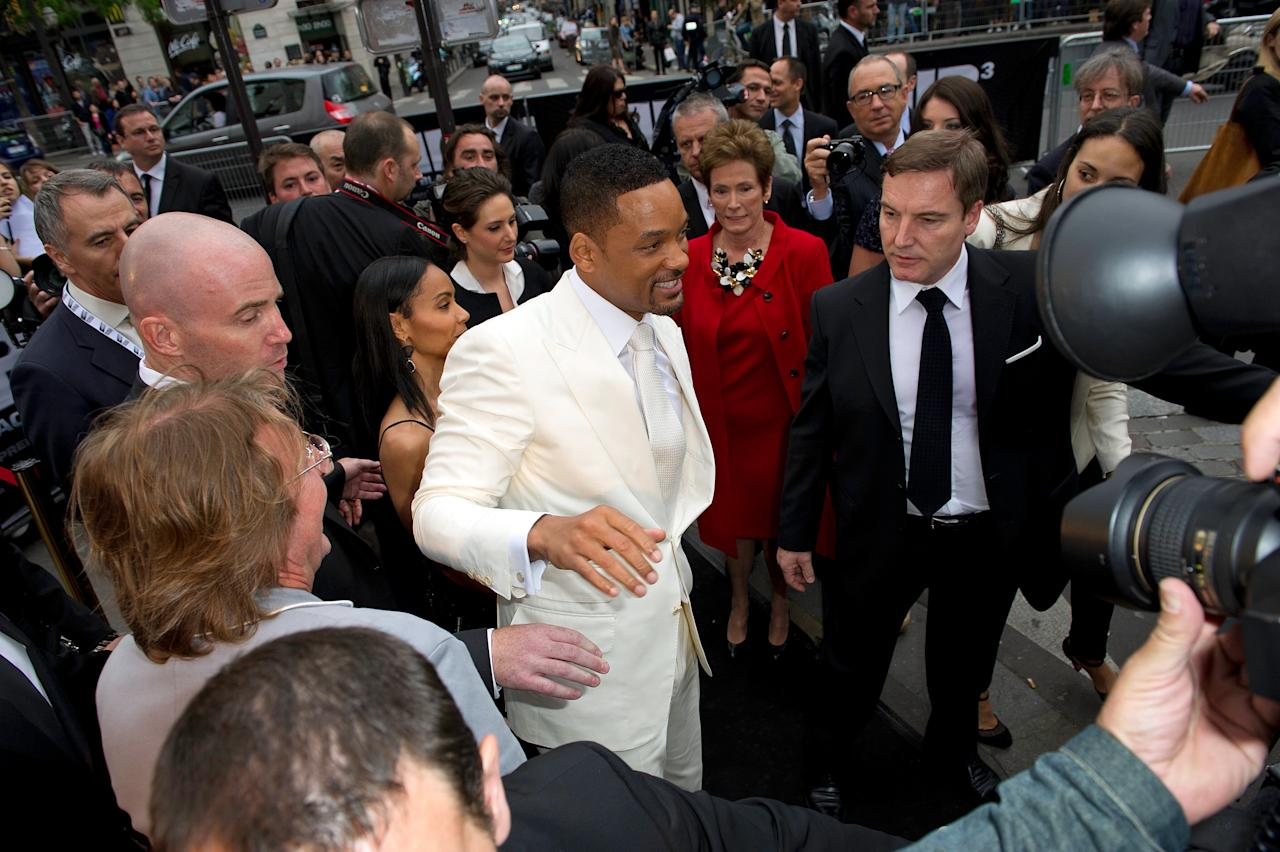 PARIS, FRANCE - MAY 11: Will Smith attends the 'Men In Black 3' European Premiere at Le Grand Rex on May 11, 2012 in Paris, France. (Photo by Kristy Sparow/Getty Images)