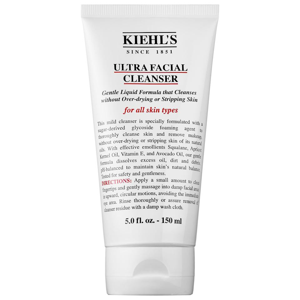 """<p>The <a href=""""https://www.popsugar.com/buy/Kiehl-Ultra-Facial-Cleanser-380412?p_name=Kiehl%27s%20Ultra%20Facial%20Cleanser&retailer=sephora.com&pid=380412&price=21&evar1=bella%3Aus&evar9=47105618&evar98=https%3A%2F%2Fwww.popsugar.com%2Fbeauty%2Fphoto-gallery%2F47105618%2Fimage%2F47105619%2FKiehl-Ultra-Facial-Cleanser&list1=shopping%2Csephora%2Ccleanser%2Cface%20wash%2Cacne%2Cskin%20care&prop13=mobile&pdata=1"""" rel=""""nofollow"""" data-shoppable-link=""""1"""" target=""""_blank"""" class=""""ga-track"""" data-ga-category=""""Related"""" data-ga-label=""""https://www.sephora.com/product/ultra-facial-cleanser-P422007?icid2=products%20grid:p422007:product"""" data-ga-action=""""In-Line Links"""">Kiehl's Ultra Facial Cleanser</a> ($21) is an old favorite. I like a lot of the products from their Ultra Facial line, and this cleanser is gentle. It doesn't irritate my skin, and I can give it to practically anyone and they'll like it too.</p>"""