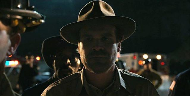 David Harbour as Jim Hopper in Netflix's <i>Stranger Things</i>. (Screengrab: Netflix)