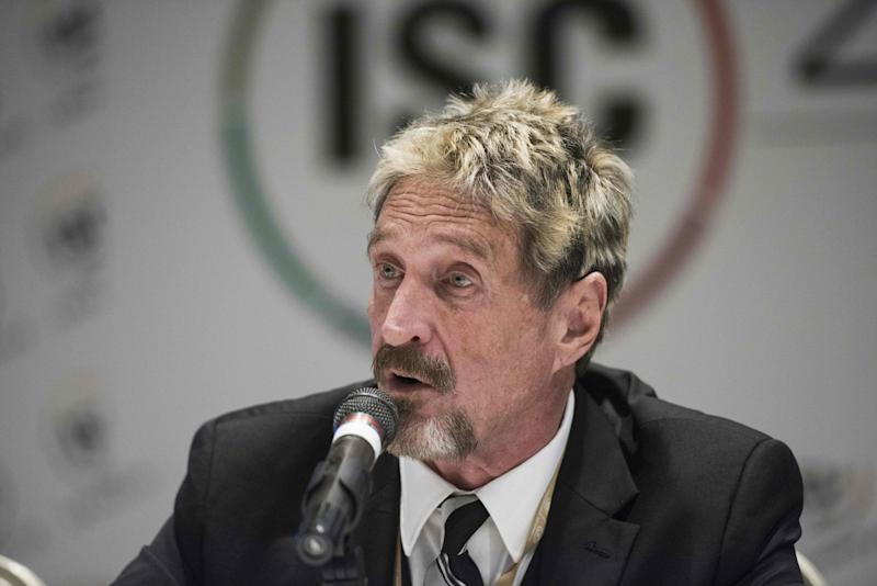 John McAfee has branded naysayers of his $1 million bitcoin price prediction 'stupid' for applying traditional market indicators. | Source: AFP PHOTO / FRED DUFOUR
