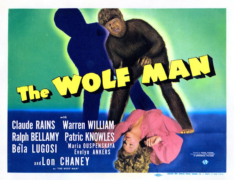 'The Wolf Man' lobby card from 1941. (Photo by LMPC via Getty Images)