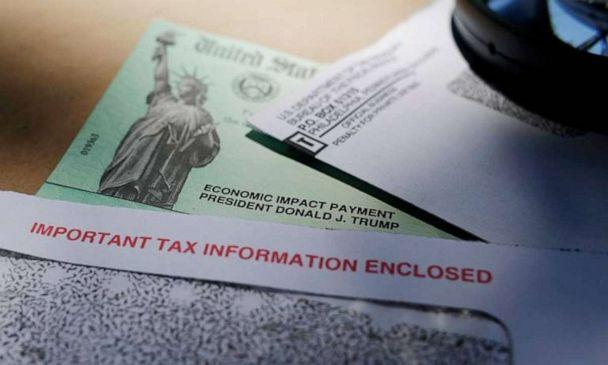 PHOTO: President Donald Trump's name on a stimulus check issued by the IRS to help combat the adverse economic effects of the COVID-19 outbreak. (Miami Herald/TNS via Getty Images)