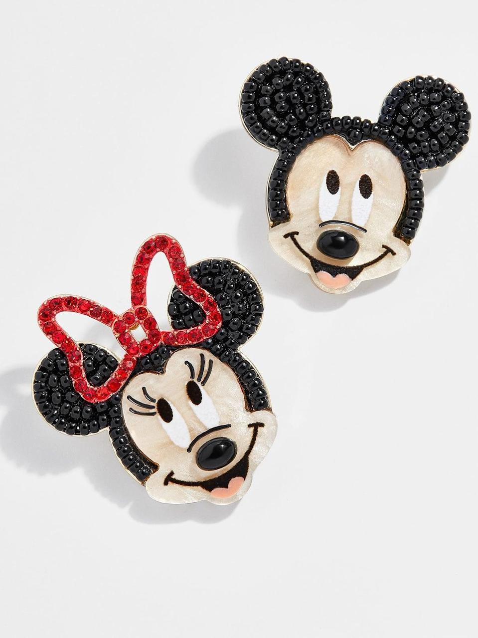 <p>These <span>BaubleBar Mickey Mouse and Minnie Mouse Earrings</span> ($46) are perfect for the Disney lover in your life.</p>