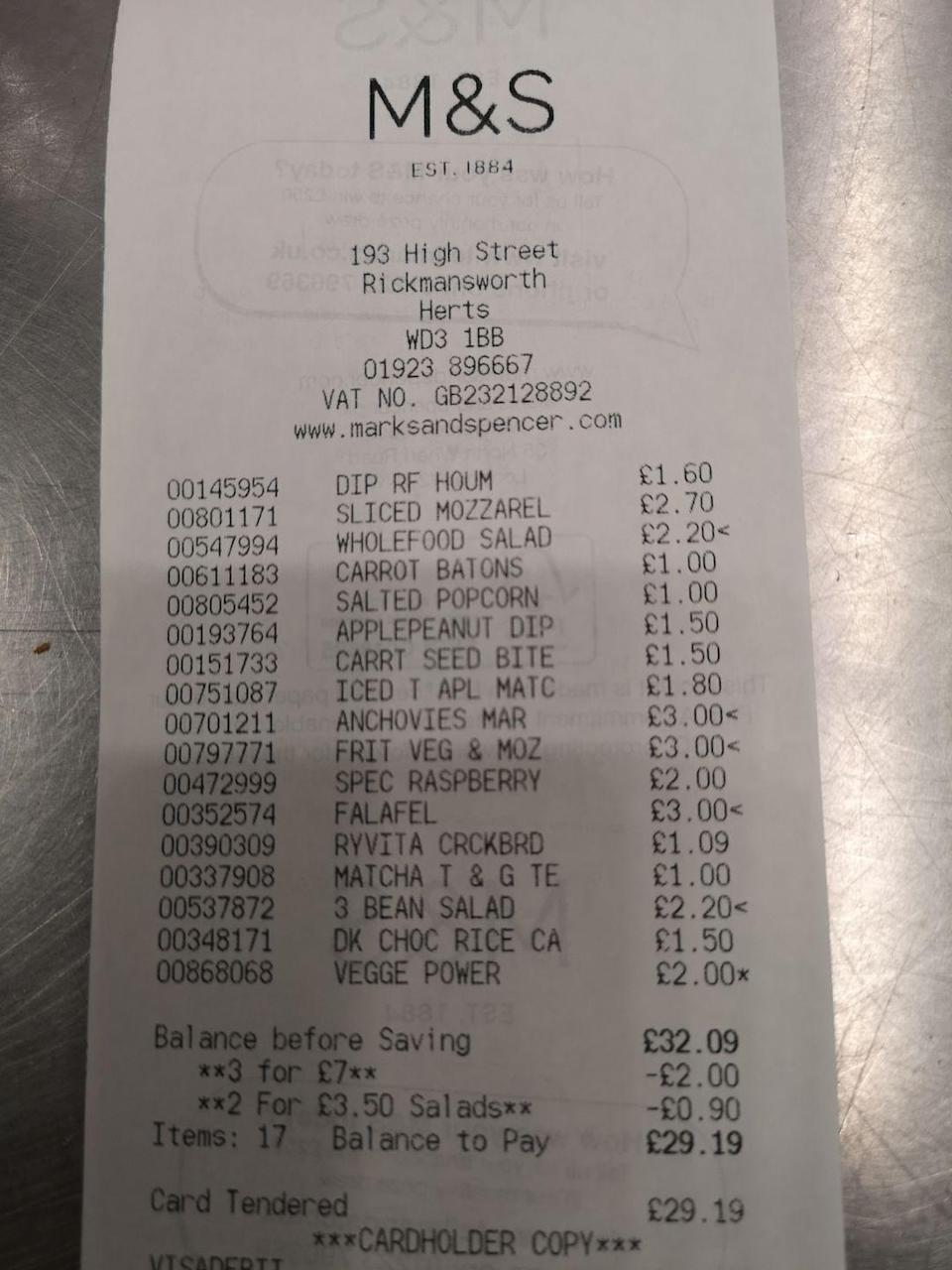 """<p>Hope's haul came in at £29.19. 81p under budget—not bad for a picnic that would serve two, full of micronutrient-dense foods and snacks ideal for enjoying al freso on a summers day.</p><p>Ready to shop? Head in store or to the <a href=""""https://www.marksandspencer.com/l/food-to-order/picnic-food-ideas"""" rel=""""nofollow noopener"""" target=""""_blank"""" data-ylk=""""slk:Marks and Spencer website"""" class=""""link rapid-noclick-resp"""">Marks and Spencer website</a> to place your order, or read what Hope would buy from <a href=""""https://www.womenshealthmag.com/uk/food/healthy-eating/g26783322/healthy-sainsburys-food/"""" rel=""""nofollow noopener"""" target=""""_blank"""" data-ylk=""""slk:Sainsbury's"""" class=""""link rapid-noclick-resp"""">Sainsbury's</a>, <a href=""""https://www.womenshealthmag.com/uk/food/healthy-eating/g25889100/healthy-asda-food/"""" rel=""""nofollow noopener"""" target=""""_blank"""" data-ylk=""""slk:Asda"""" class=""""link rapid-noclick-resp"""">Asda</a> and <a href=""""https://www.womenshealthmag.com/uk/food/weight-loss/a709038/healthiest-foods-to-buy-at-lidl/"""" rel=""""nofollow noopener"""" target=""""_blank"""" data-ylk=""""slk:Lidl"""" class=""""link rapid-noclick-resp"""">Lidl</a>. </p><p>You're welcome. </p>"""