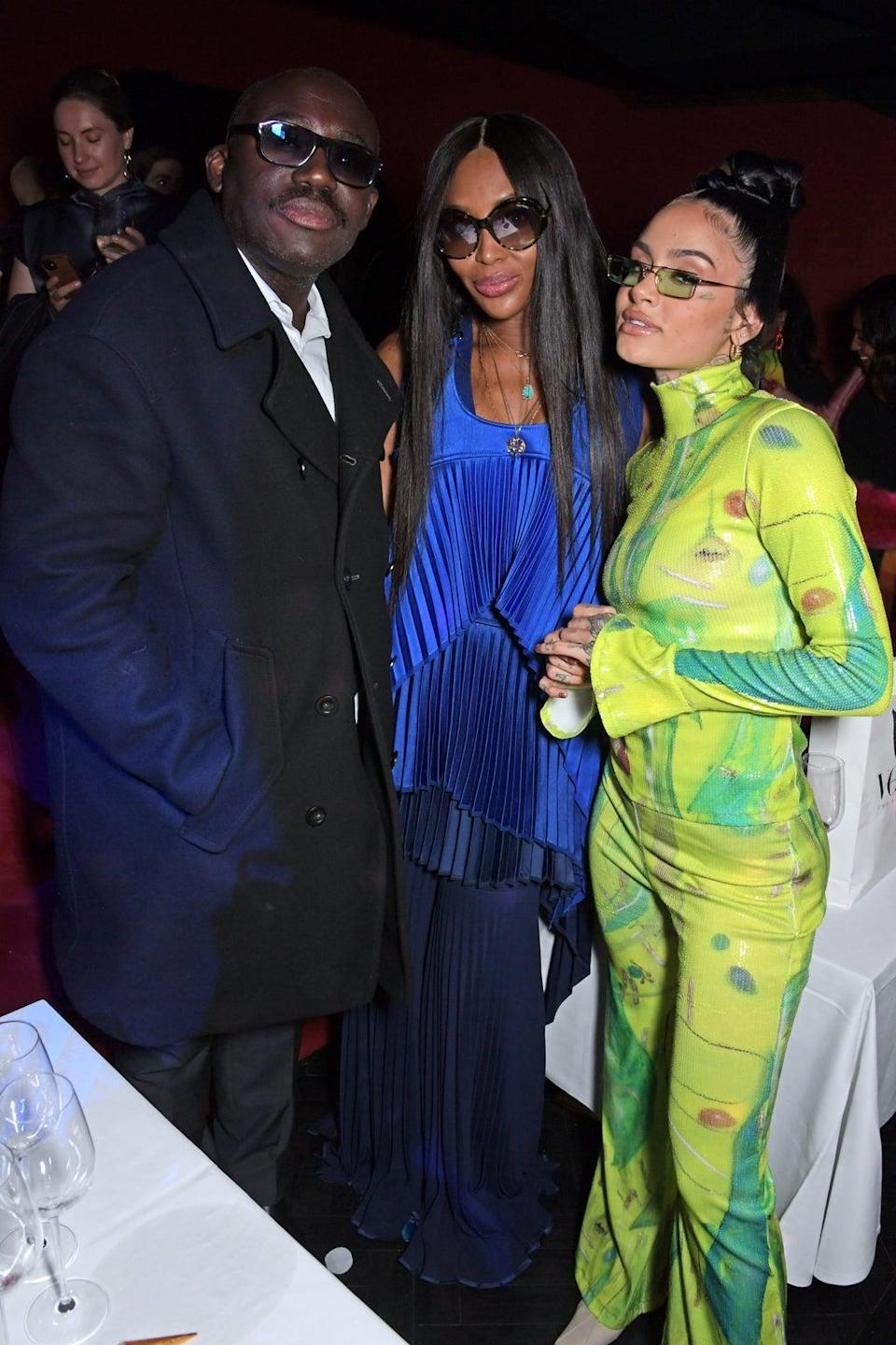 Edward Enninful, Naomi Campbell and Kehlani at the BFC's Opening Party (Dave Benett/Getty Images)