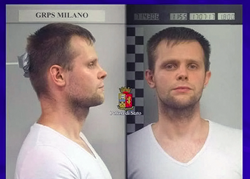 Kidnap suspect Lukasz Herba is being held in Italy (Picture: Rex)