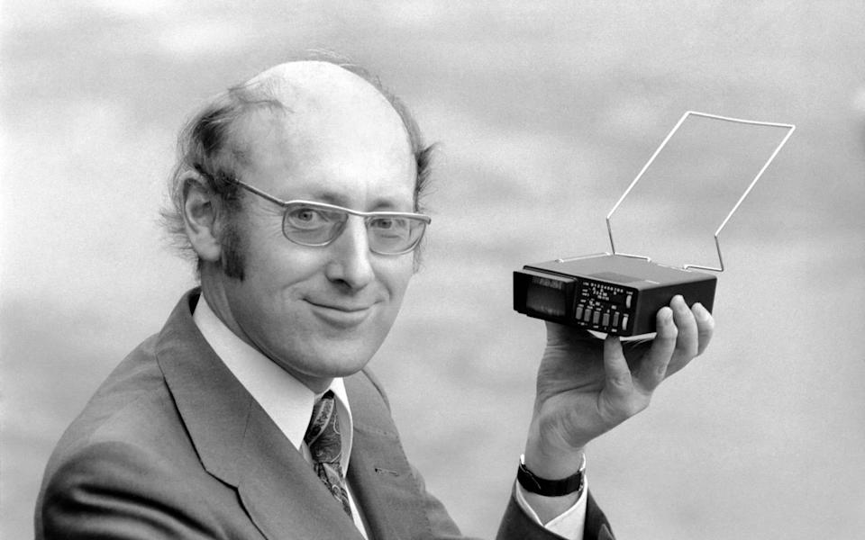 Sir Clive in 1977 with the Microvision, at the time the world's smallest TV - Mirrorpix
