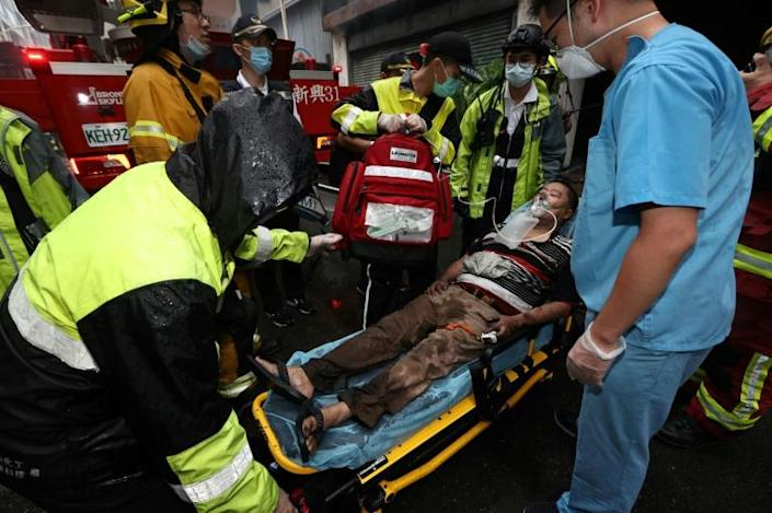 More than 40 people were hurt in the inferno (AFP/Johnson Liu)
