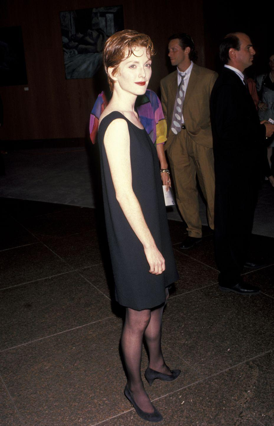 <p>Four years before her breakout role in <em>Nine Months</em>, Julianne Moore walked the red carpet for her TV movie, <em>Cast a Deadly Spell</em>. </p>