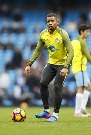 Gabriel Jesus, jogador do Manchester City. 05/02/2017 Action Images via Reuters / Jason Cairnduff