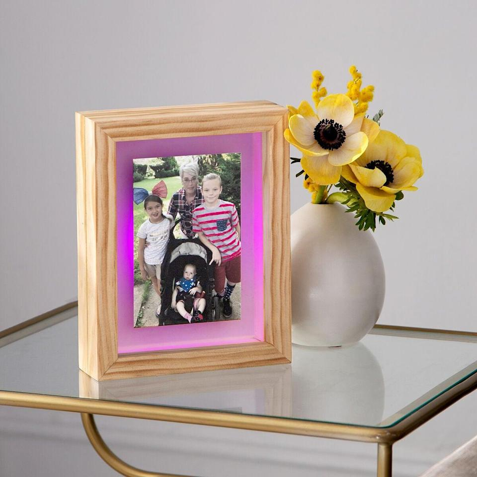 <p>The <span>Long Distance Friendship Frame</span> ($99) doubles as sentimental home decor and a personable gift.</p>