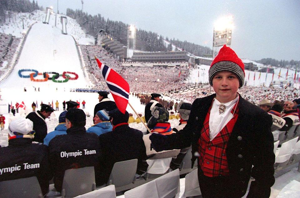 """<p>In 1986, the International Olympic Committee <a href=""""https://www.latimes.com/archives/la-xpm-1986-10-14-mn-3527-story.html"""" rel=""""nofollow noopener"""" target=""""_blank"""" data-ylk=""""slk:decided to separate"""" class=""""link rapid-noclick-resp"""">decided to separate</a> the Winter and Summer Olympic Games into a two-year rotation, beginning with the 1994 Winter Olympics. The opening ceremonies included tributes to all facets of Norwegian culture, including Telemark skiing (a technique named for the region in Norway) and folk dancing. Even more notably, as the opening ceremonies unfolded, art thieves went to the National Museum in Oslo and stole Edvard Munch's <em>The Scream</em>. </p>"""