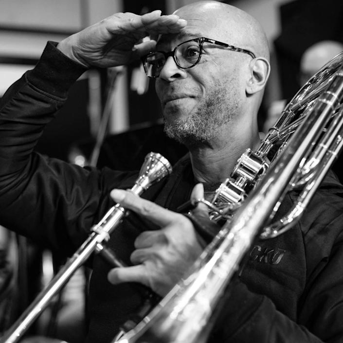 Ron Wilkins, a trombonist and singer in New York City, chose to ride out the coronavirus pandemic in his hometown of San Antonio. He contracted the virus and spent 21 days on a ventilator. He's recovering in an acute care hospital in New Braunfels, Texas.