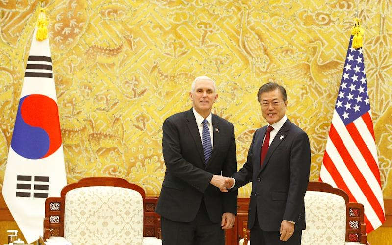 Pence, Moon discuss N. Korea's charm offensive