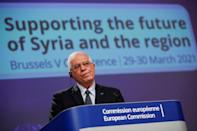 European Union foreign policy chief Josep Borrell said donors gave some $8 billion in grants to Syria last year