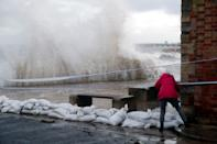 Before hitting areas of the UK, including Swanage, Dorset, Storm Alex had battered Europe, causing widespread flooding. (Reuters)