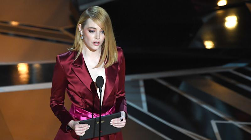 Emma Stone Delivered The Perfect Burn To The Oscars' Male-Dominated Director Category