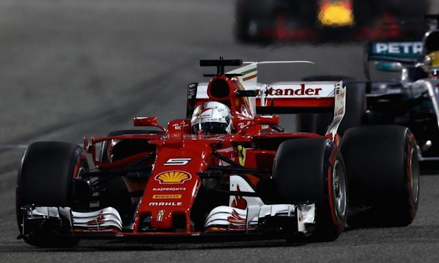 """<span class=""""element-image__caption"""">Sebastian Vettel won in Bahrain where Ferrari showed that on race day they have speed as well as endurance.</span> <span class=""""element-image__credit"""">Photograph: Lars Baron/Getty Images</span>"""