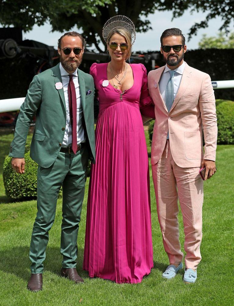 James Middleton, Vogue Williams and Spencer Matthews | Steve Parsons/PA Images via Getty Images