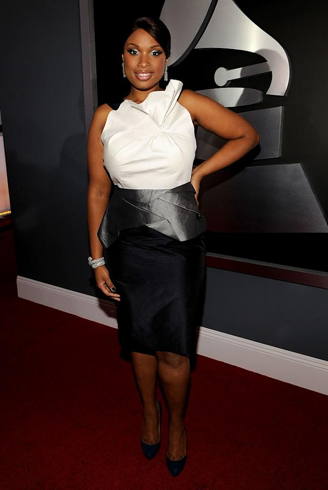 """<a href=""""/jennifer-hudson/contributor/1258412"""">Jennifer Hudson</a> arrives at the 51st Annual Grammy Awards at the Staples Center on February 8, 2009, in Los Angeles."""