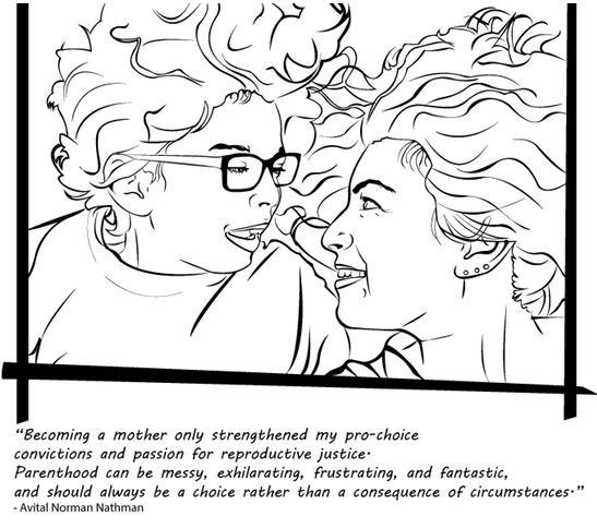 """<p>Oluo's featured feminists aren't afraid to speak their minds. Controversial topics like reproductive freedom and public breastfeeding are tackled in black and white. This is <i>empowered</i> coloring.<i>(Credit: <a href=""""https://www.kickstarter.com/projects/347021647/badass-feminist-coloring-book"""">Ijeoma Oluo via Kickstarter</a>)</i></p>"""