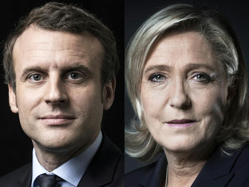 Emmanuel Macron and Marine Le Pen are looking nervously behind them at the chasing pack