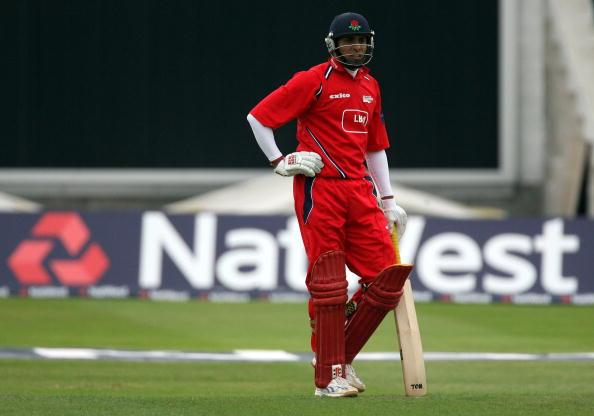 BIRMINGHAM, UNITED KINGDOM - SEPTEMBER 01:  Lancashire's batsman VVS Laxman looks on during the NatWest Pro40 match between Warwickshire Bears and Lancashire Lightning at Edgbaston on September 1, 2007 in Birmingham, England.  (Photo by Matt Cardy/Getty Images)
