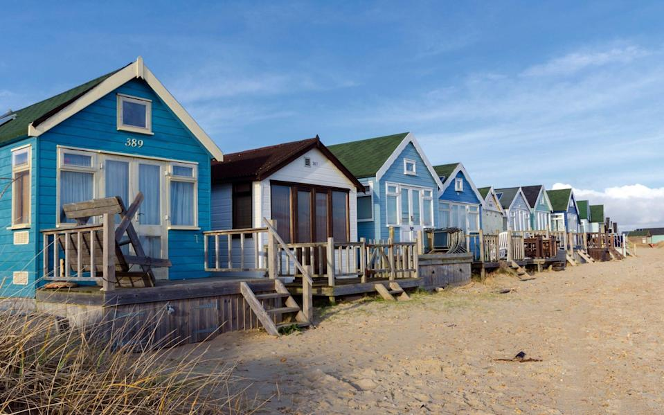 Mudeford, where some beach huts are selling for £325,000 - Helen Hotson / Alamy Stock Photo
