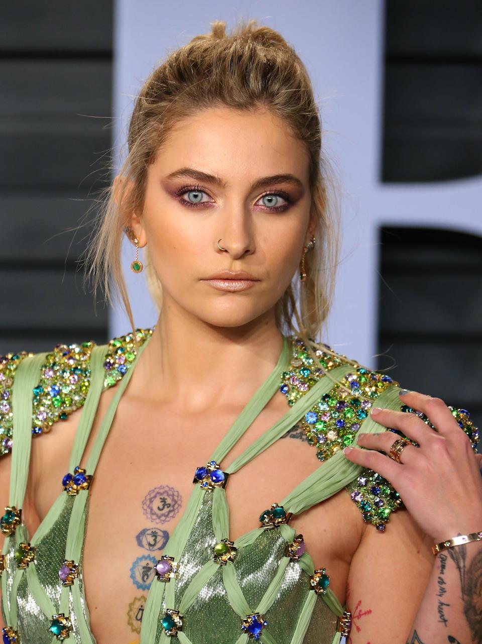 Paris Jackson, pictured at the 2018 Oscars, is defending her pot use. (Photo: JEAN-BAPTISTE LACROIX/AFP/Getty Images)