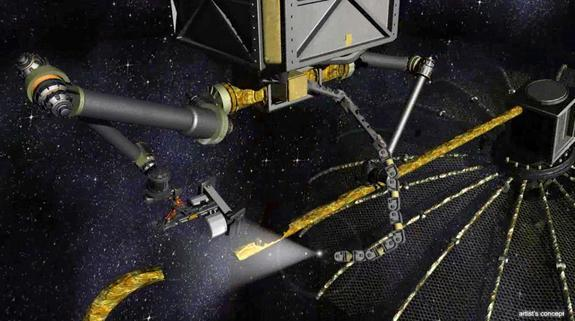 DARPA's proposed Phoenix spacecraft that would service satellites in orbit.