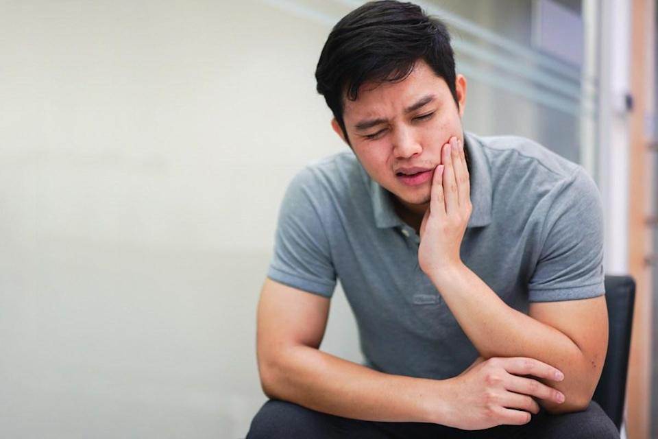 "Toothaches don't always mean it's time to schedule a <a href=""https://bestlifeonline.com/dentist-recommendations/?utm_source=yahoo-news&utm_medium=feed&utm_campaign=yahoo-feed"" rel=""nofollow noopener"" target=""_blank"" data-ylk=""slk:trip to the dentist"" class=""link rapid-noclick-resp"">trip to the dentist</a>. Rather, for a surprising number of male heart attack victims—13 percent in the Canadian study, to be exact—<a href=""https://bestlifeonline.com/warning-signs-your-teeth-send/?utm_source=yahoo-news&utm_medium=feed&utm_campaign=yahoo-feed"" rel=""nofollow noopener"" target=""_blank"" data-ylk=""slk:tooth pain"" class=""link rapid-noclick-resp"">tooth pain</a> was one of the silent symptoms of their heart problem."
